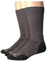 Smartwool PhD(r) Outdoor Light Crew 3-Pack (Taupe) Crew Cut Socks Shoes