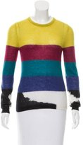 Carven Patterned Mohair-Blend Sweater