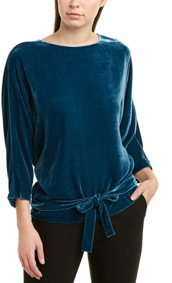 Lafayette 148 New York Jericho Silk-Blend Blouse