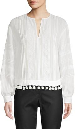 Derek Lam 10 Crosby Textured Cotton Blouse