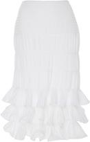 Johanna Ortiz M'O Exclusive Sanibel Tiered Ruffle Midi Skirt