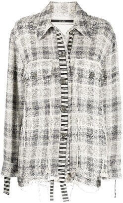 Song For The Mute Distressed Checked Shirt Jacket