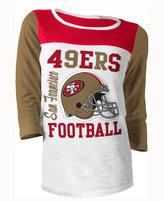 5th & Ocean Women's San Francisco 49ers Three-Quarter Glitter T-Shirt