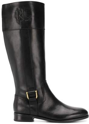 Lauren Ralph Lauren side logo boots
