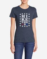 Eddie Bauer Women's Triblend Crew T-Shirt - Hike The USA