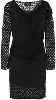 Vivienne Westwood Toga Draped Lace Dress - Black
