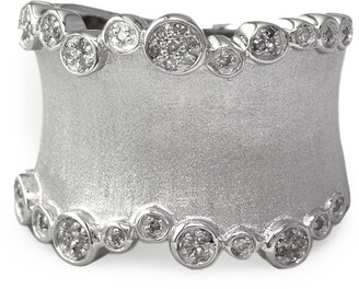 Effy Sterling Silver Pave Diamond Band Ring - Size 7 - 0.20 ctw