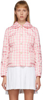 Comme des Garcons Pink and White Check Peter Pan Collar Jacket