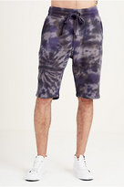 True Religion Spiral Tie Dye Mens Sweat Short