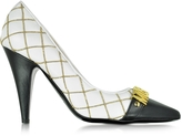 Moschino Quilted Nappa Pump w/Golden Logo and Beads