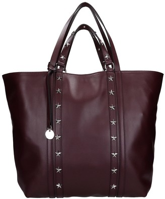 RED Valentino Tote In Bordeaux Leather