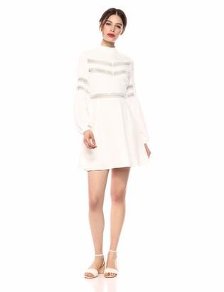 Jack by BB Dakota Womens give me The Details Rayon Twill Dress w/lace Trim Cutouts