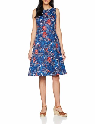 Joe Browns Women's Vintage Peacock Dress Blue (A-Navy Multi (Size:12)