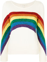 Marc Jacobs Rainbow boat neck sweater - women - Cotton/Polyester/Metallic Fibre - XS