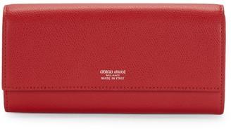 Giorgio Armani Logo Continental Wallet