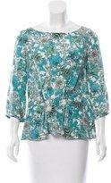 Thakoon Silk Floral Print Top