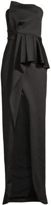 Black Halo Jonas Asymmetric Column Gown