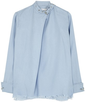 Marques Almeida Blue buckled chambray blouse