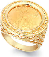 Macy's Genuine US Eagle Coin Ring in 22k and 14k Gold
