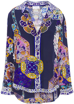 Camilla Star Gazer Printed Silk Crepe De Chine Shirt