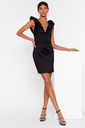 Nasty Gal Womens Good to V You Satin Mini Dress - Black
