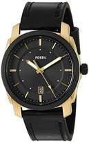 Fossil Men's Quartz Stainless Steel and Leather Casual Watch, Color:Black (Model: FS5263)