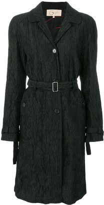 Romeo Gigli Pre Owned Pleated Belted Coat