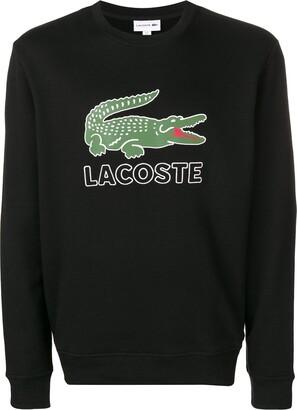 Lacoste logo print crew neck sweatshirt
