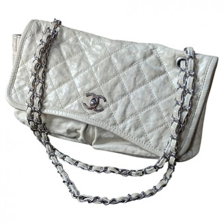 Chanel Ecru Leather Handbags
