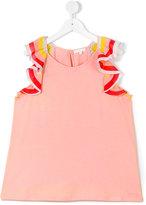 Chloé Kids - teen ruffle sleeve top - kids - Cotton/Modal/Polyester - 14 yrs