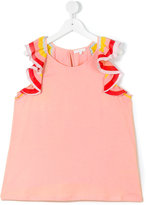 Chloé Kids - teen ruffle sleeve top - kids - Cotton/Polyester/Modal - 14 yrs