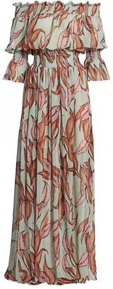 PatBO Off-The-Shoulder Floral Maxi Dress