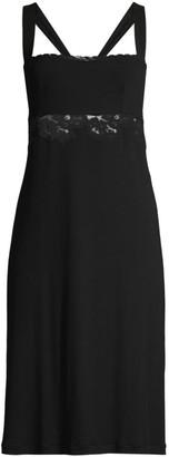 La Perla Amelia Lace-Trim Short Nightgown
