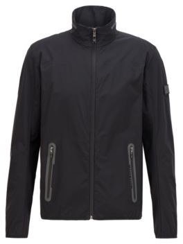 HUGO BOSS Water-repellent packable jacket in stretch fabric