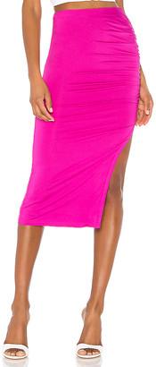 superdown Tiffani Ruched Midi Skirt