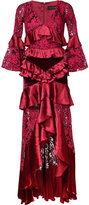 Romance Was Born crimson magnolia gown - women - Silk/Cotton/Nylon - 6