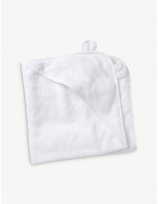 The Little White Company Hydrocotton hooded teddy bear towel, White