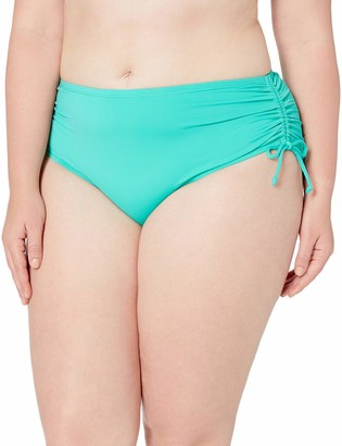 24th & Ocean Women's Plus Size Adjustable Hipster Bikini Swimsuit Bottom