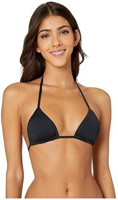 Vitamin A Swimwear Gia Reversible Triangle Top (Black EcoLux) Women's Swimwear
