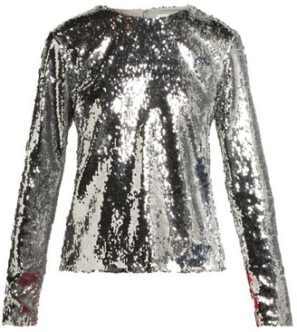 Racil Judy Sequinned Top - Womens - Silver