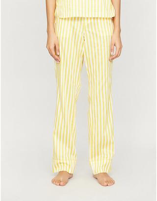 Les Girls Les Boys Striped cotton-poplin pyjamas trousers
