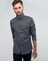 Farah Shirt With Herringbone Weave In Slim Fit