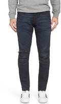 G Star 5620 Skinny Fit Moto Jeans (Dark Aged Black)