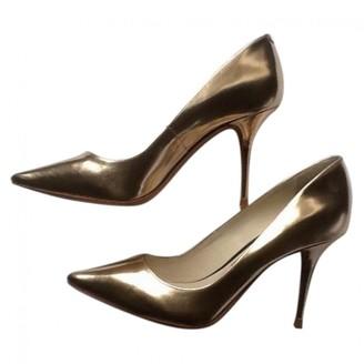 Sophia Webster Gold Patent leather Heels