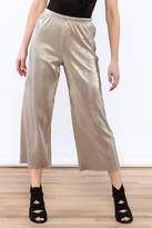 Glamorous Metallic Pleated Culottes