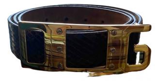 Dolce & Gabbana Brown Water snake Belts