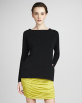 Halston Ruched Jersey Skirt