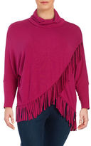 Context Plus Fringed Cowlneck Sweater