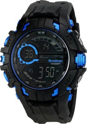 Armitron Sport Men's 40/8335BLU Blue Accented Digital Chronograph Black Resin Strap Watch