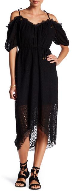 Gypsy 05 Gypsy05 Cold-Shoulder Midi Dress